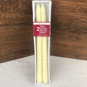 """10"""" Taper Candle Ivory/Off White 2Pk NEW"""